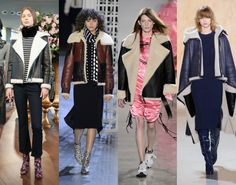 Shearling Jackets Classic aviator-style shearling jackets are back for Fall 2016, with designers such as Altuzarra and Kate Spade showing them with everything from kick flares to midi dresses.