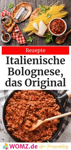 Original Italian Bolognese Sauce Recipe This recipe for Italian Bolognese Sauce is simply amazing. The secret – the original Bolognese sauce has to cook for a long time, which makes it incredibly aromatic. Beste Bolognese, Best Bolognese Sauce, Slow Cooker Bolognese Sauce, Homemade Bolognese, Italian Pasta Recipes, Spaghetti Recipes, Original Bolognese, Spaghetti Bolognaise, Slow Cooker Spaghetti
