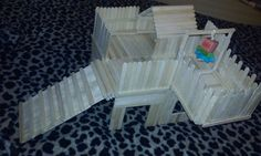 Another Popsicle Stick Hamster House Completed(:  all I need to do now is paint! ❤ (:
