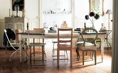 'Perfection is boring,' says stylist Hans Blomquist. Start an imperfect mix of dining room chairs   Inside Hans' home, Paris