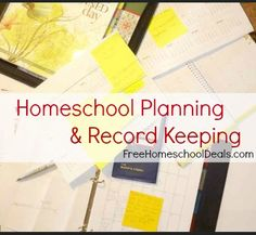 Homeschool planning & Record Keeping