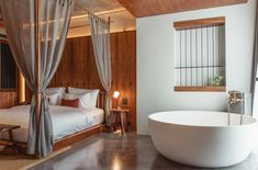 Not far from Bang Niang and Nang Thong beaches on Thailand's northwest coast, Hotel Gahn reminds visitors to the Khao Lak region that the lauded surf spot has more to offer than natural beauty. With 20 rooms across five stories, the hotel features an outdoor pool, restaurant and coffee bar on the ground floor. Ochre-and-green hand-painted walls and rosewood panelling add warmth to the space, designed by Thanart Chanyu of Studio Locomotive. Khao Lak, Hand Painted Walls, Panelling, Outdoor Pool, Locomotive, Ground Floor, Beaches, Natural Beauty, Surf