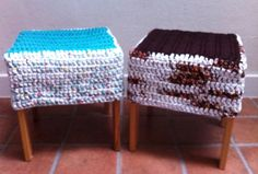 Crochet covers for stools