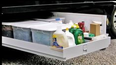 RV storage can be found at select locations. When it has to do with RV storage, the ideal thing to do to avoid missing any steps is to create a checklist. Covered RV storage is a great idea if you… Continue Reading → Camper Storage, Diy Camper, Rv Campers, Camper Ideas, Happy Campers, Popup Camper, Camper Hacks, Closet Storage, Travel Trailer Organization