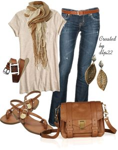 """""""Casual Caramel"""" by dlp22 ❤ liked on Polyvore"""