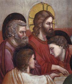 Scenes from the Life of Jesus Christ: Last Supper (detail) / La Última Cena (detalle) // 1304-1306 // Giotto di Bondone // Fresco / Cappella Scrovegni (Arena Chapel), Padua