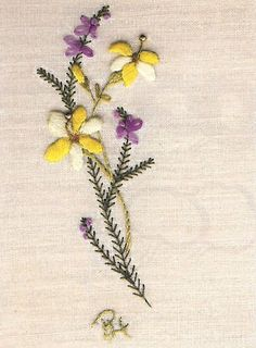 Winter Jasmine and Heather (Free Embroidery Pattern) - Craftfoxes