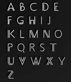 Art deco typography , typeface, lettering, roaring twenties, jazz age for various different ideas Alphabet Design, Hand Lettering Alphabet, Alphabet Fonts, Alphabet Letters, Art Deco Typography, Typography Letters, Typography Design, Font Art, Creative Typography