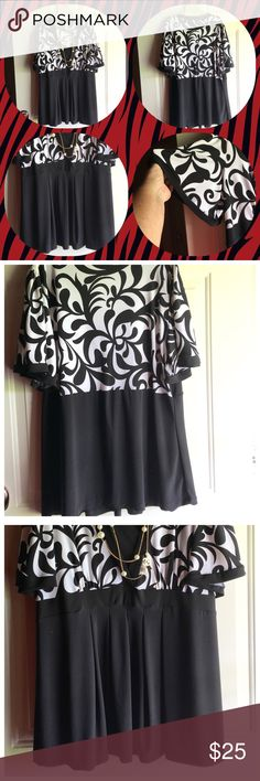 """🎉HP🎉 NWOT J.T.B. LADIES TOP 💥HOST PICK💥"""" Everything Plus Size"""" 1-3-17 Beautiful Polyester/Spandex Pullover Baby Doll Top Size 1X But Will Fit XL Also In Excellent Condition No Fading , Tears  or Stains J.T.B. Tops"""