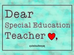 Dear teacher in special education, thank you for all you do! Being a teacher in special education brings its own unique set of challenges and rewards. Celebrate the Special Education Teachers in your life. Social Skills Lessons, Teaching Social Skills, Student Teaching, Teaching Resources, Special Education Law, Special Education Classroom, Teacher Appreciation Gifts, Teacher Gifts, Behavior Reflection
