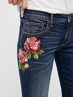 Product Image: Kelly Embroidered Baby Bootcut Jeans