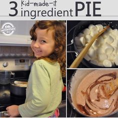 Kid-made chocolate cream pie that is dairy free!