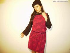 Μπορντώ φόρεμα με μανίκια μαύρα και λαιμόκοψη High Neck Dress, Internet, Dresses, Fashion, Turtleneck Dress, Vestidos, Moda, Fashion Styles, Dress