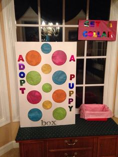 Cute idea for a game...cut out circles then cover with tissue paper have kids punch thru for a prize!