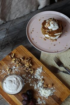 Coconut Pancakes with Walnut Cream