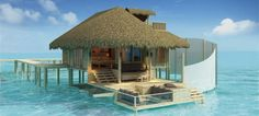 Maldives over water room
