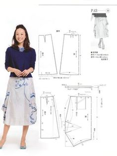 index.php (690×923) Sewing Pants, Sewing Clothes, Diy Clothes, Blouse Patterns, Clothing Patterns, Sewing Collars, Japanese Sewing Patterns, Pola Rok, Diy Braids