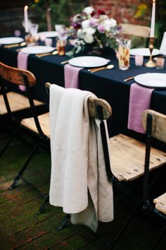 Cozy table decor: http://www.stylemepretty.com/living/2015/02/16/a-beautiful-moody-30th-birthday-party/ | Photography: Anna Wu - http://annawu.com/