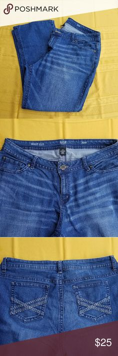 a.n.a plus size jeans size 20 These jeans are a plus size 20 wide fit, boot cut, previously loved but still lots of life left were altered on bottom legs sold as is from smoke free home. a.n.a Jeans Boot Cut