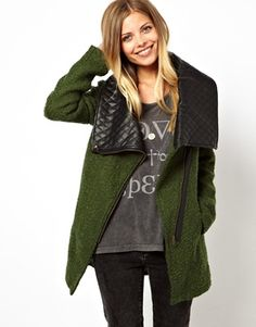 @Kirsten Wehrenberg-Klee Mackintosh Noisy May Oversized Coat With Faux Leather Collar