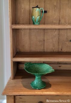 ~ Farmhouse ~ Majolica ~ Pine Buffet Cabinet ~ by Ralph Lauren Home Farmhouse Renovation, Buffet Cabinet, Pine, Ralph Lauren, Shelves, Home Decor, Style, Pine Tree, Shelving