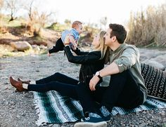 Desert Picnic Family Photos - Inspired By This-so cute