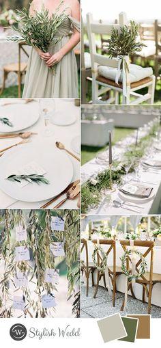 romantic minimalism greenery wedding inspiration