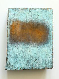 CHRISTIAN HETZEL - rusty field 2015 -29 x 23 x 6.5 cm - Mischtechnik auf Holz ,