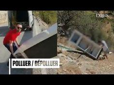 Il jette un frigo dans la nature, la police le retrouve et l'oblige à le reprendre - YouTube
