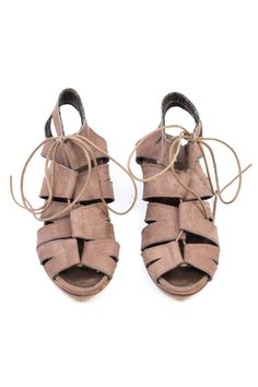 I like to pair gladiator sandals with pants and a blouse. The contrast of business + boho is a great pair. Gladiator Sandals, Shoes Sandals, Gladiators, Spring Summer Fashion, Autumn Fashion, Dark Autumn, Walk In My Shoes, Lace Up Wedges, Walk This Way