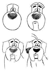 How to draw a Dog. Show the kids- With minor adjustments , it could be Bella.