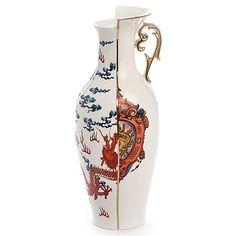 SELETTI THE Porcelain BIN /ø cm.42 h.14 White 42 x 42 x 14 cm