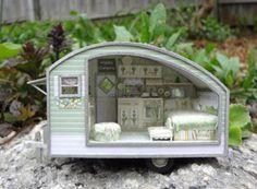 Doll sized camper!  Cute!