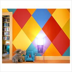 I like the wall, maybe with a different color palate!