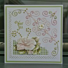 Embroidery Cards, Stitching, Scrap, Frame, Design, Ideas, Decor, Cards, Flowers