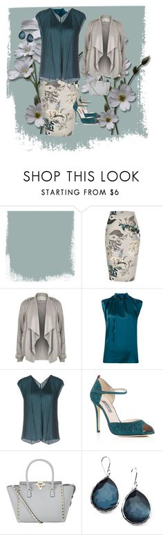 """""""Teal and Gray"""" by chauert on Polyvore featuring River Island, Lanvin, Pleats Please by Issey Miyake, SJP, Valentino and Ippolita"""