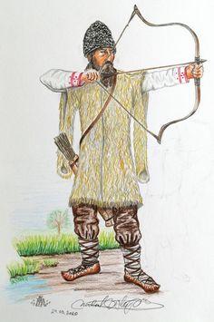 Wallachian archer, 14th century. Chronicon pictum Moldova, Iron Age, 14th Century, Dracula, Medieval, Armies, Albania, Bulgaria, World