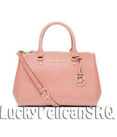 Michael Kors Sutton SMALL Saffiano Leather Satchel Bag Handbag PALE PINK NWT #MichaelKors #Satchel