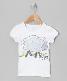 Take a look at this White & Gray Lamb Tee - Infant, Toddler & Girls by Bizi Tees on #zulily today! Shaun the sheep fans? ;)