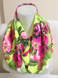 Floral ScarfVintage ScarfPink Flower Scarf Gift by Yellowcrochet