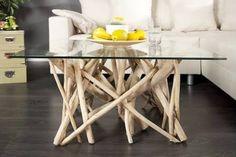 Table basse bois flotté