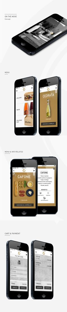 Sfilatino, app design, luxury fast food, Italian food, high-end, UI, brand experience, app inspiration, food e-commerce, dashboard, menu