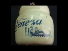 Boião yogurt veneza fabrica de sacavem- carimbo gilman em porcelana, mais tarde foram substituidos