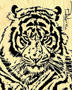 The Eyes Of The Tiger  Scroll saw pattern by PabreuWoodworking, €7.50