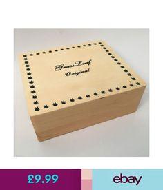 Cigarette Boxes Grassleaf Wooden Stash Box Large #ebay #Collectibles Stash Jars, Cigarette Box, Office Supplies, Boxes, Conditioner, Ebay, Crates, Box, Cases