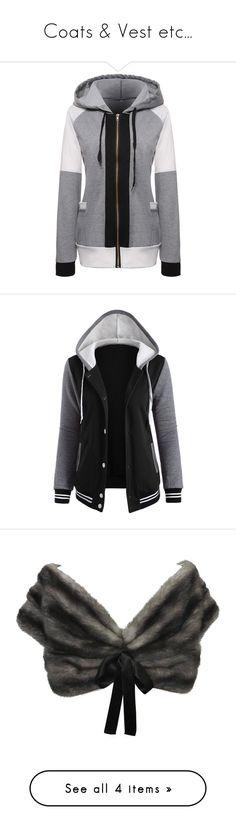 """Coats & Vest etc..."" by kokoxpops ❤ liked on Polyvore featuring tops, hoodies, long hoodie, hooded zipper sweatshirts, color block hoodie, long hoodies, hooded sweatshirt, outerwear, jackets and fleece jacket"