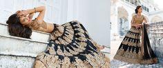 Awesome Black Embroidered Lehenga Choli