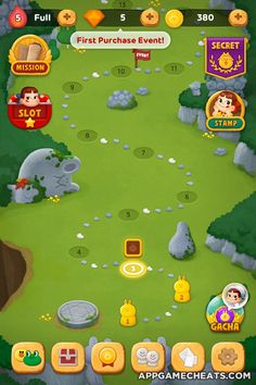 Explosion Drawing, Treasure Games, Map Games, Global Map, Game Ui Design, Cute Games, Game Guide, Line Friends, Game Concept