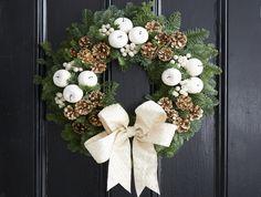 White wax Grapevine Wreath, Grape Vines, Christmas Wreaths, Wax, Holiday Decor, Home Decor, Decoration Home, Room Decor, Vineyard Vines