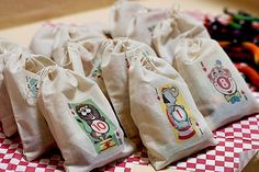 playing card favour bags - utorial
